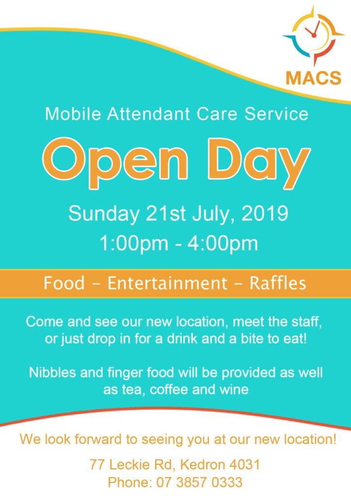 MACS Open Day Flyer