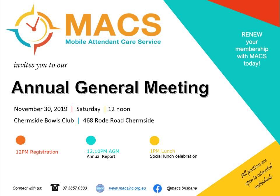 MACS 2019 AGM